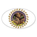 Morelaholic morel gifts Oval Sticker
