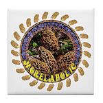 Morelaholic morel gifts Tile Coaster