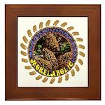 Morelaholic morel gifts Framed Tile