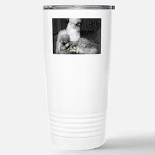 Black and White Silkie  Travel Mug