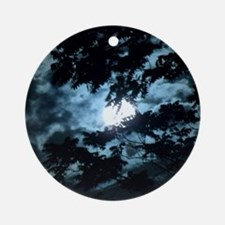 Moon through the trees. Round Ornament