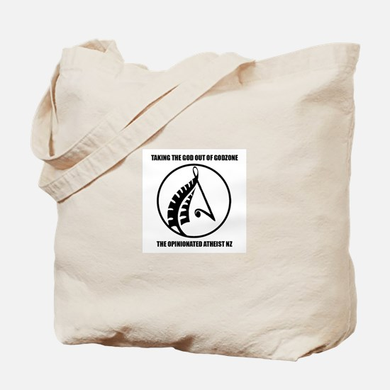 The Opinionated Atheist NZ Logo Tote Bag