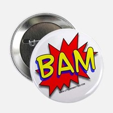 """BAM Comic saying 2.25"""" Button (100 pack)"""