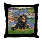 Black and tan cavalier king charles spaniel Throw Pillows