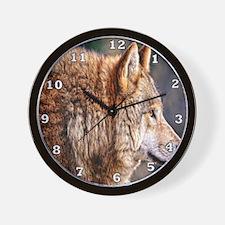 Golden Wolf Wall Clock