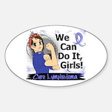 Lymphedema Rosie Anime WCDI Sticker (Oval)