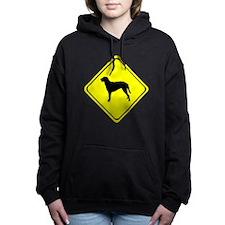 Curly Coated Retriever Crossing Hooded Sweatshirt