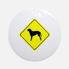 Curly Coated Retriever Crossing Round Ornament