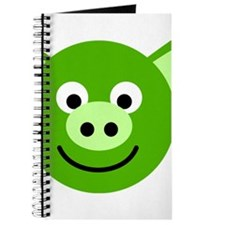 Custom Happy Green Pig Journal