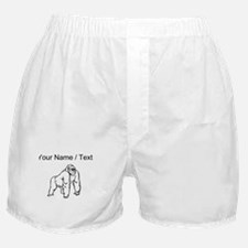 Custom Gorilla Drawing Boxer Shorts