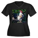 Early Mornin Women's Plus Size V-Neck Dark T-Shirt