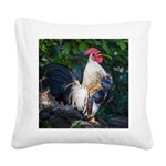 Early Morning Wakeup Call Square Canvas Pillow