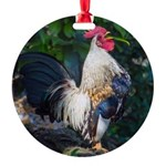 Early Morning Wakeup Call Round Ornament