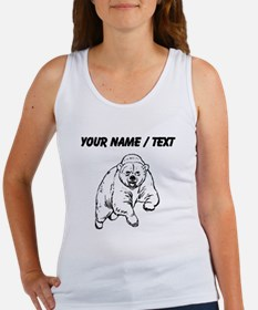 Custom Grizzly Bear Drawing Tank Top