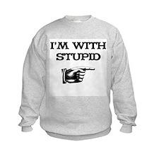 I'm With Stupid 01 Sweatshirt