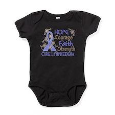 Lymphedema Courage Faith 3 Baby Bodysuit