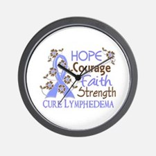 Lymphedema Courage Faith 3 Wall Clock
