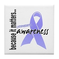 Lymphedema Awareness 1 Tile Coaster