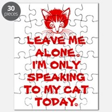 Only Speaking To My Cat Today Puzzle