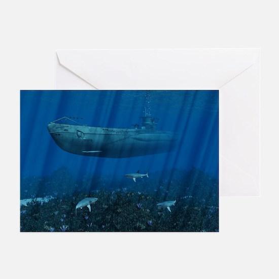 U99 Submarine Greeting Cards