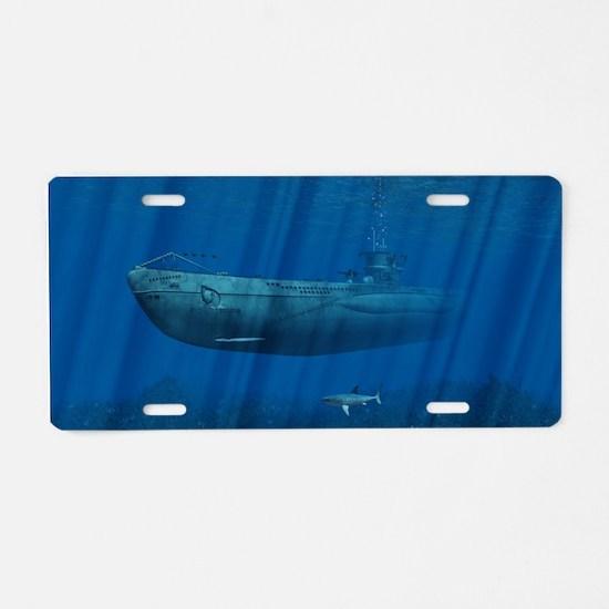 U99 Submarine Aluminum License Plate