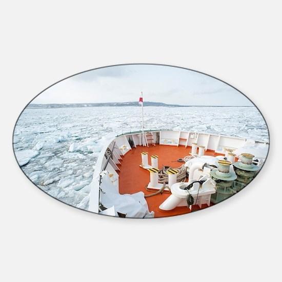 Sea of okhotsk Sticker (Oval)