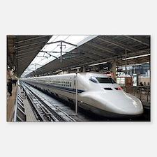 Shinkansen bullet train in sta Decal