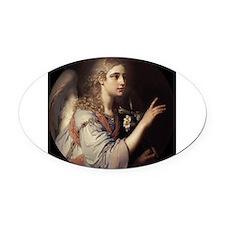 Anonymous - Archangel Gabriel - Circa 1807 Oval Ca
