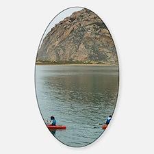 morro bay canoe Sticker (Oval)