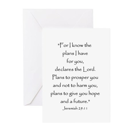 Jeremiah 29:11 Greeting Cards (Pk of 10)