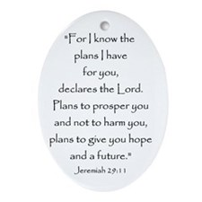 Jeremiah 29:11 Oval Ornament