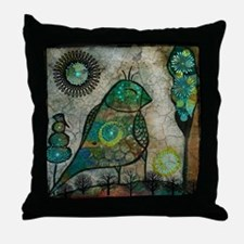 Birdie collage Throw Pillow