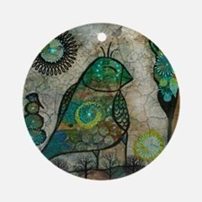 Birdie collage Round Ornament