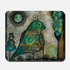 Birdie collage Mousepad
