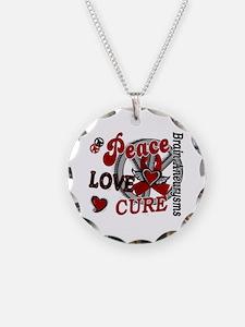Brain Aneurysm Peace Love Cu Necklace