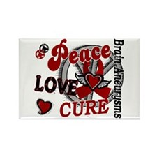 Brain Aneurysm Peace Lo Rectangle Magnet (10 pack)