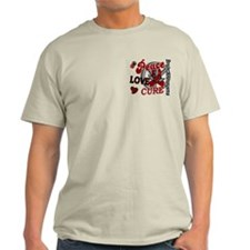 Brain Aneurysm Peace Love Cure 2 T-Shirt