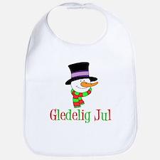 Gledelig Jul Snowman Child Bib