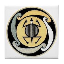 MIMBRES WATER TURTLE BOWL DESIGN Tile Coaster