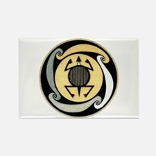 MIMBRES WATER TURTLE BOWL DESIGN Rectangle Magnet