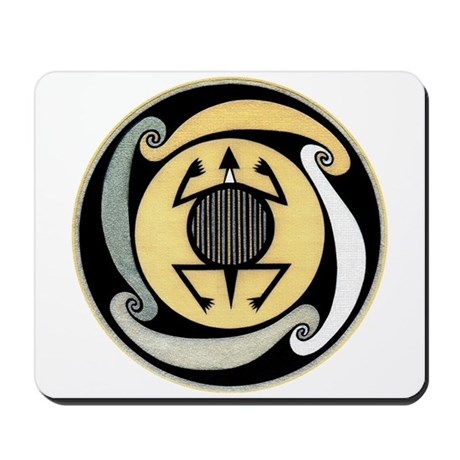 MIMBRES WATER TURTLE BOWL DESIGN Mousepad