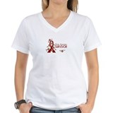 Aneurysm survivor Womens V-Neck T-shirts