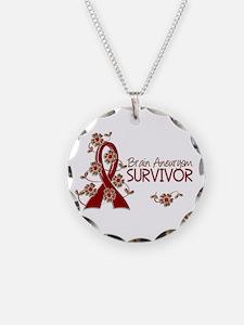 Brain Aneurysm Survivor 3 Necklace