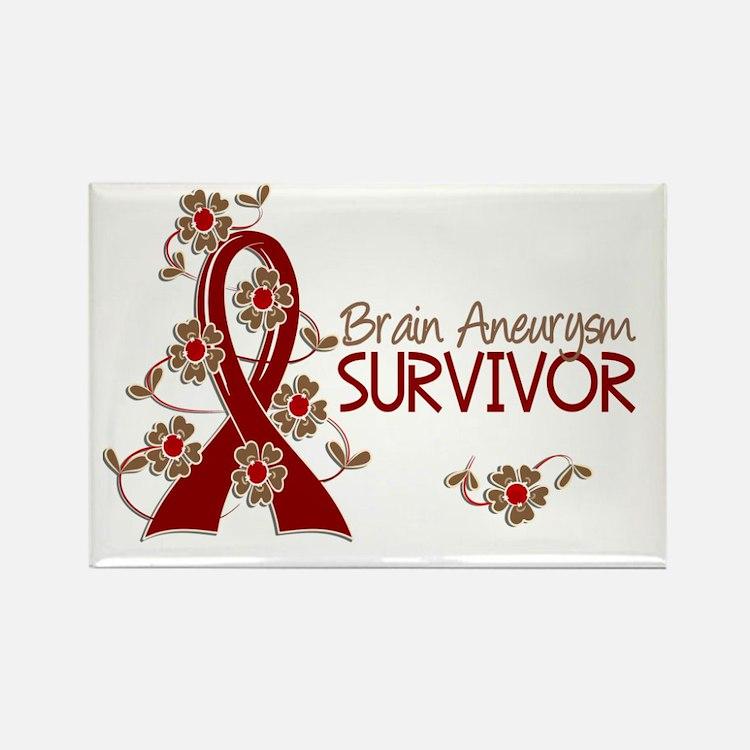 Brain Aneurysm Survivor 3 Rectangle Magnet