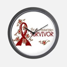 Brain Aneurysm Survivor 3 Wall Clock