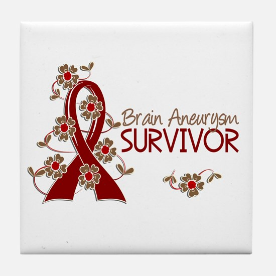 Brain Aneurysm Survivor 3 Tile Coaster