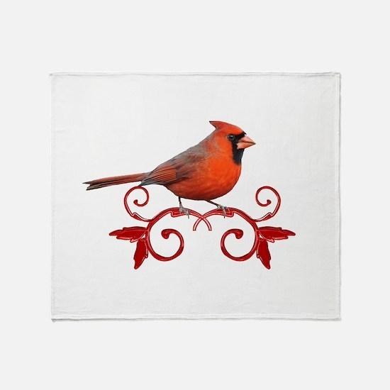 Beautiful Cardinal Throw Blanket
