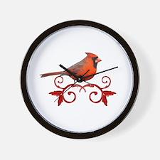 Beautiful Cardinal Wall Clock