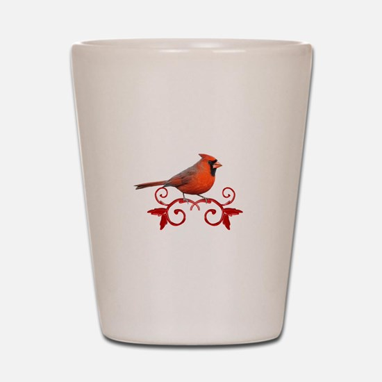 Beautiful Cardinal Shot Glass
