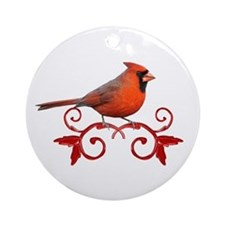 Beautiful Cardinal Ornament (Round)